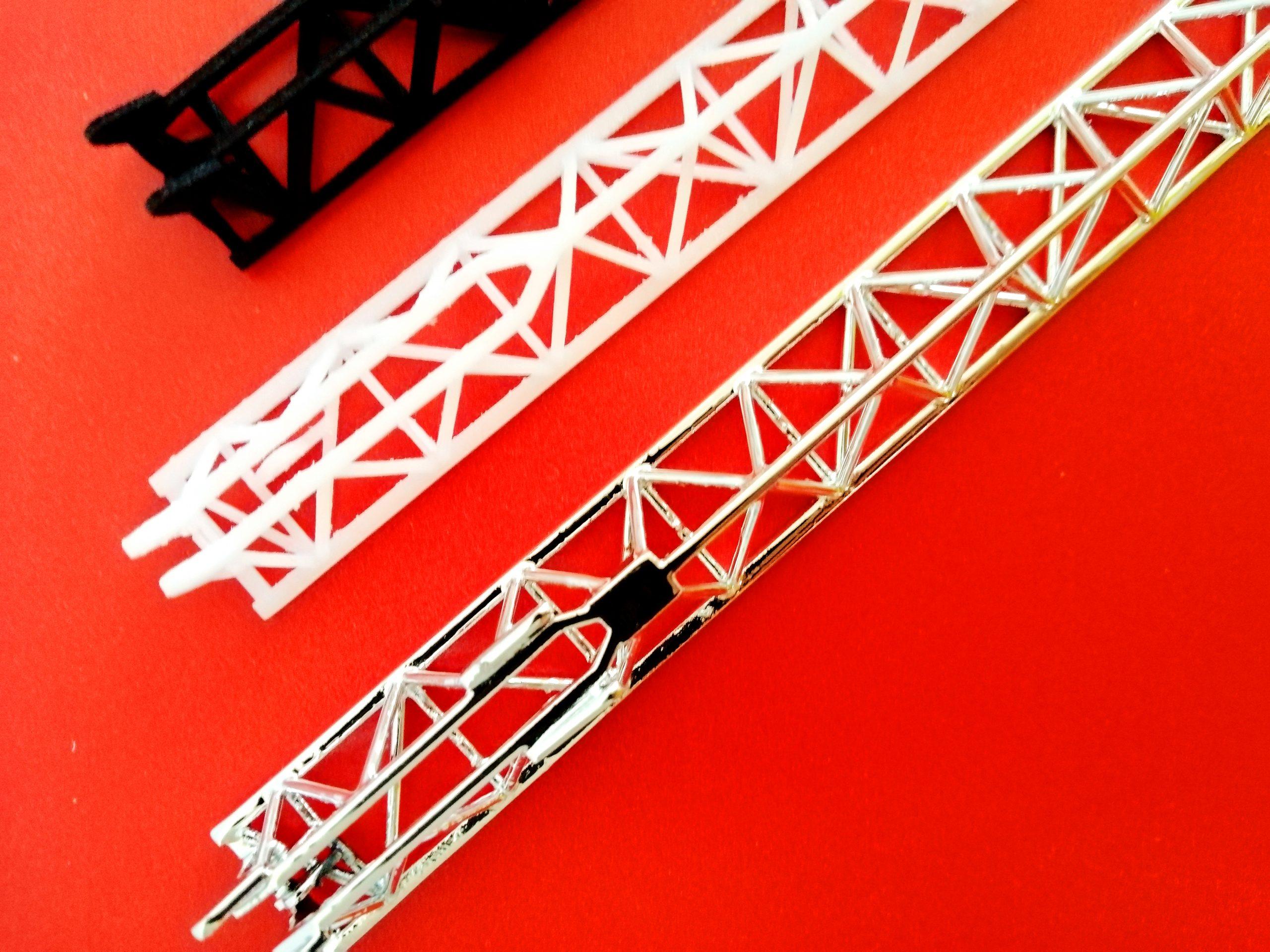 Modellismo Gru Cantiere Stampa 3D Metallizzazione - KreaItaly, Stampa 3d - Stampanti 3d Marche - Stampanti 3D prezzi - Aziende stampa 3d